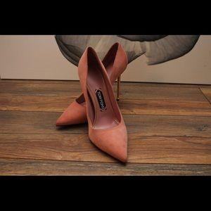 Tom Ford pink suede heels
